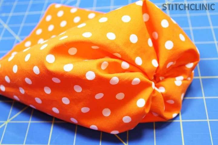 Empty fabric Pumpkin, ready to be stuffed