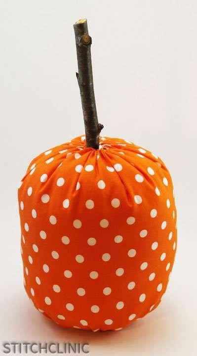 Cute fabric pumpkin almost complete