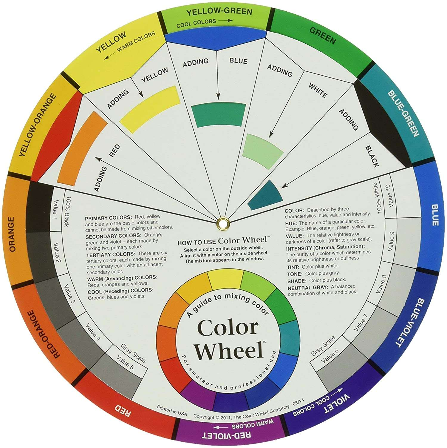 color wheel for picking colors